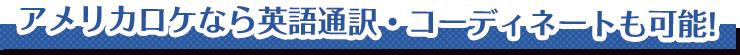 アメリカロケなら英語通訳・コーディネートも可能!